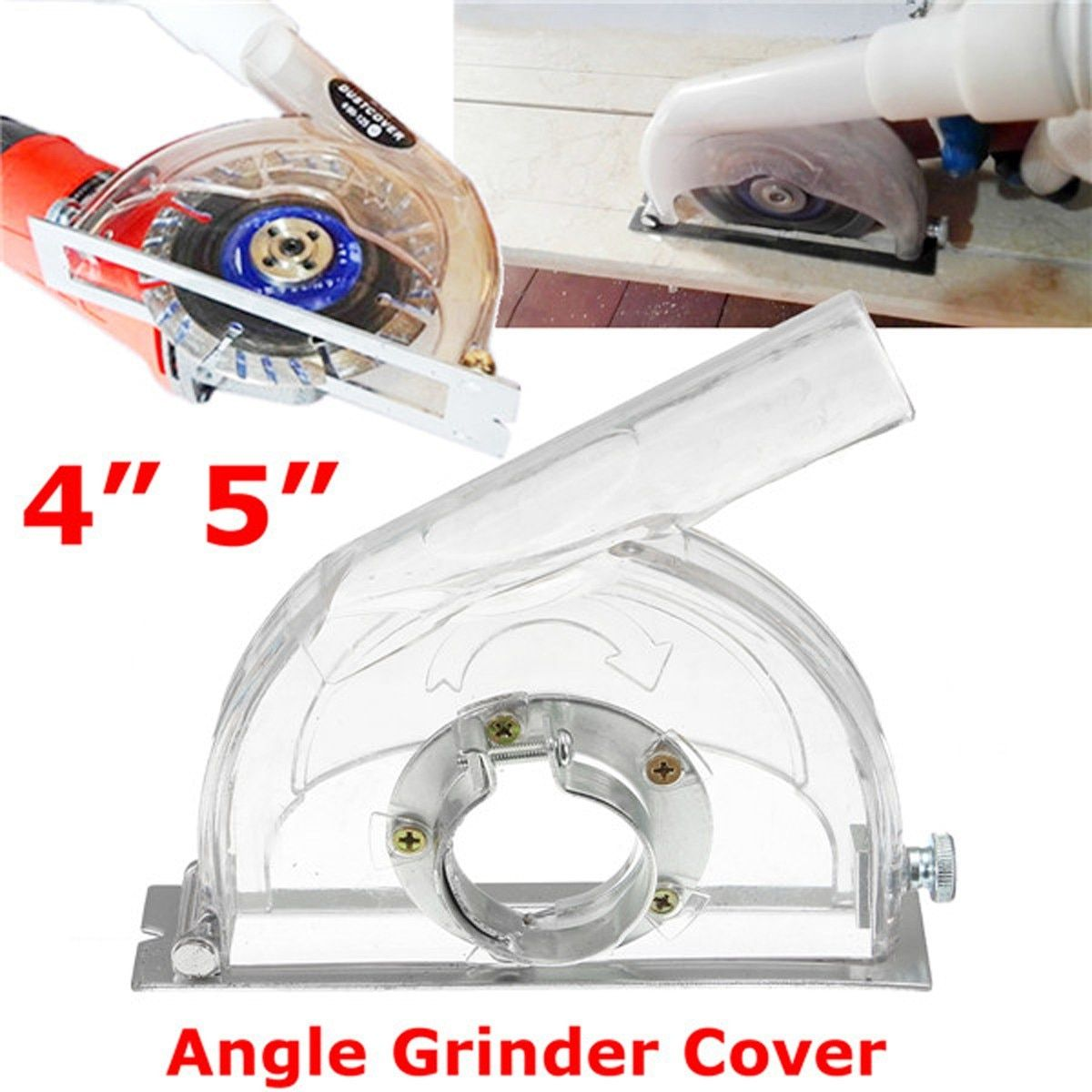 Convertible Clear Cutting Transparent Grinding Dust Cover For 45 Angle Grinder & 3/4/5