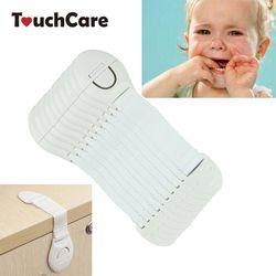 10 unids/lote protección de bloqueo de puertas para seguridad de los niños seguridad Bloqueo de plástico para niño
