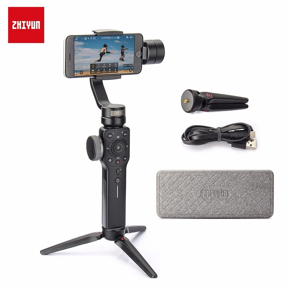 ZHIYUN Official Smooth 4 3-Axis Handheld Smartphone Gimbal Stabilizer VS Smooth Q Model for iPhone X 8Plus 8 7 6S Samsung S9S8S7