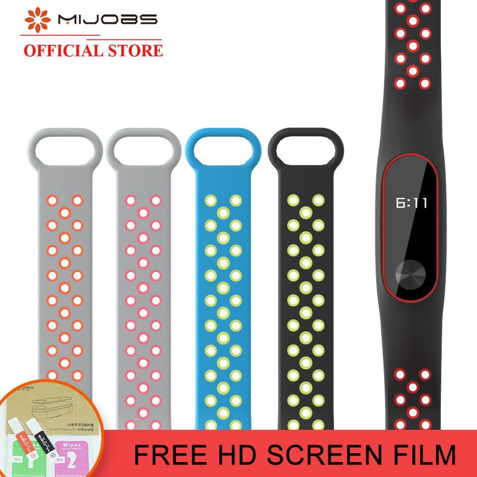 Mijobs für Xiaomi Mi Band 2 Band miband 2 Armband für Mi Band 2 Armband Bunte Silikon Sport Armband Smart Band