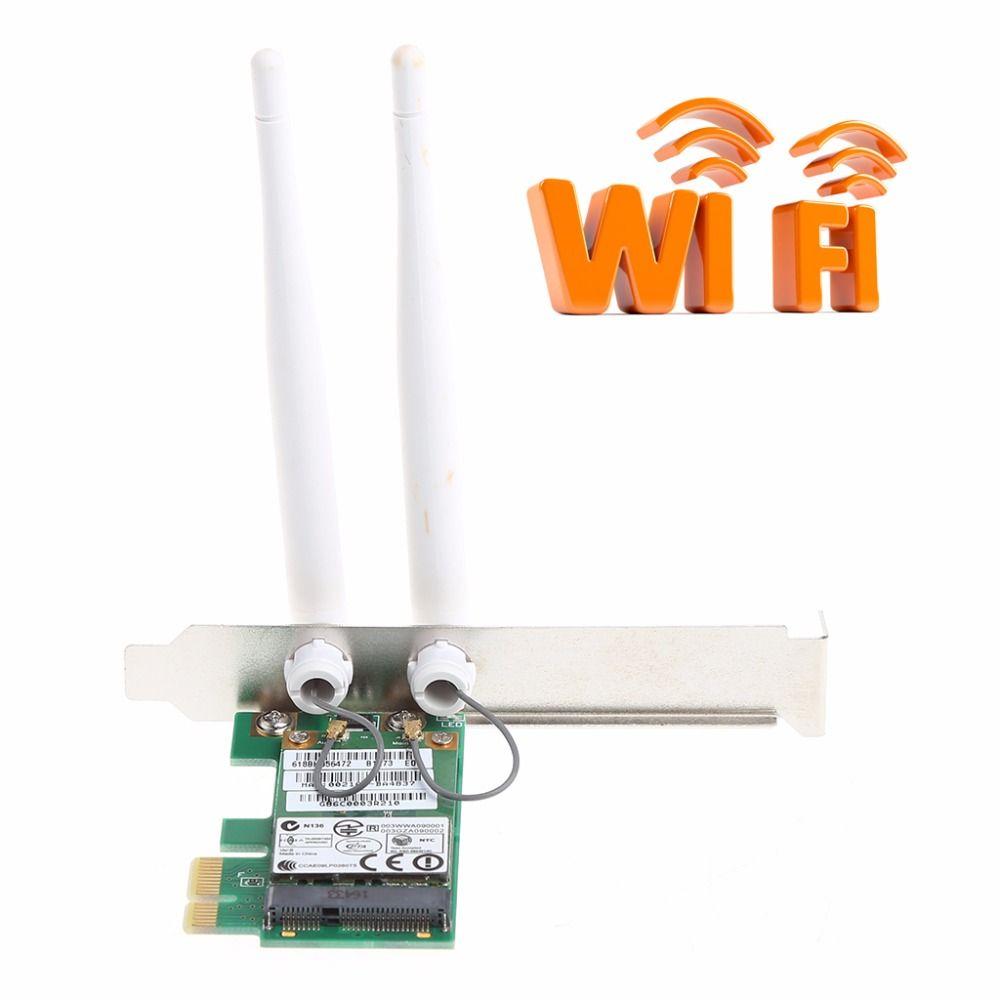 AR9281 Bureau Wlan Sans Fil Wifi PCI-E Carte Adaptateur PCI-1X 300 M Avec Double Undetachable Antenne Nouveau Drop Shipping-PC ami