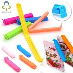 10 unids/lote portátil nueva cocina almacenamiento alimentos snack Seal sello Pinzas para las bolsas sellador clamp herramienta plástica GYH