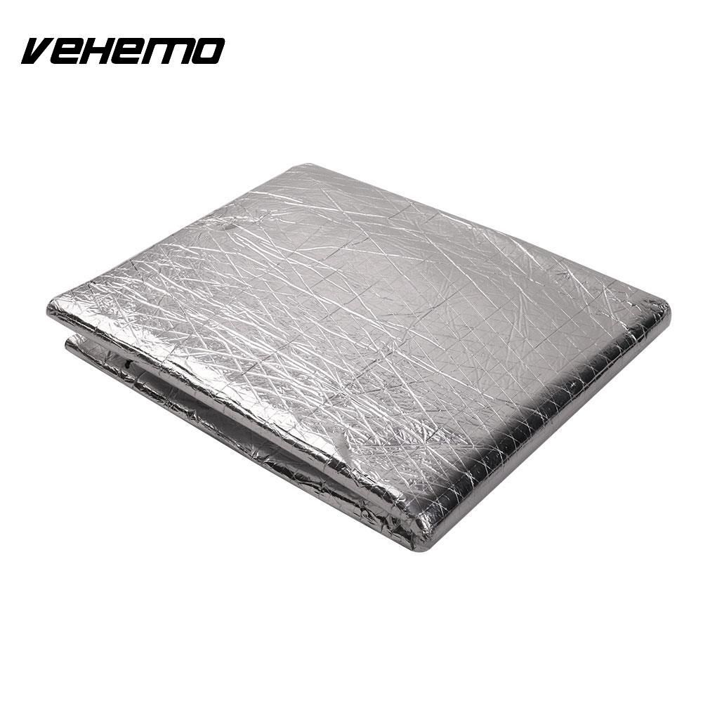 Vehemo Waterproof Self Adhesive Car Heat Sound Insulation Cotton Automobile Vehicle