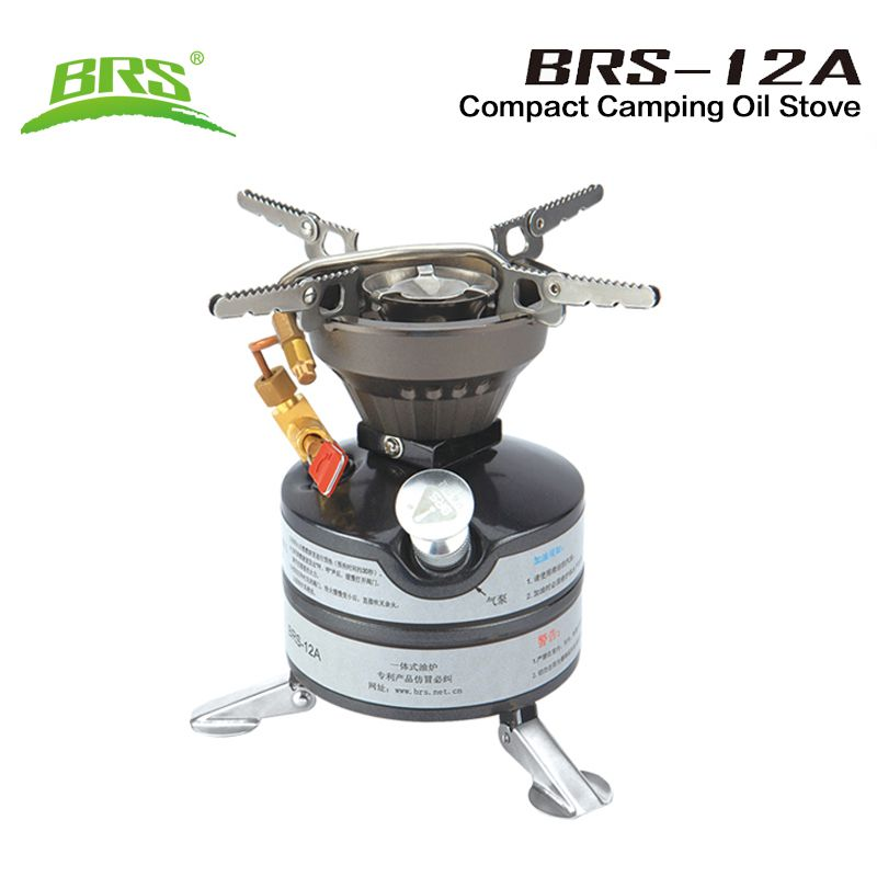 BRS Outdoor Camping Gasoline Stove One-piece Burners Petrol Stove Cookware Diesel Kerosene Camp Oil Stove Picnic Furnace BRS-12A