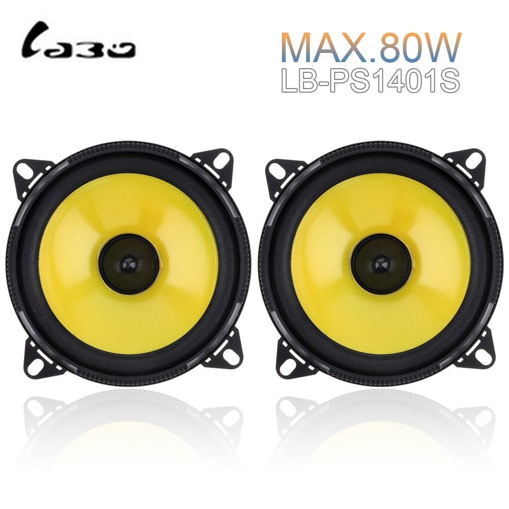 2pcs 4 inch 80W 2-Way Car Speaker Full Range Frequency Auto Stereo Audio Loud Speaker Automotive Automobile Loudspeaker