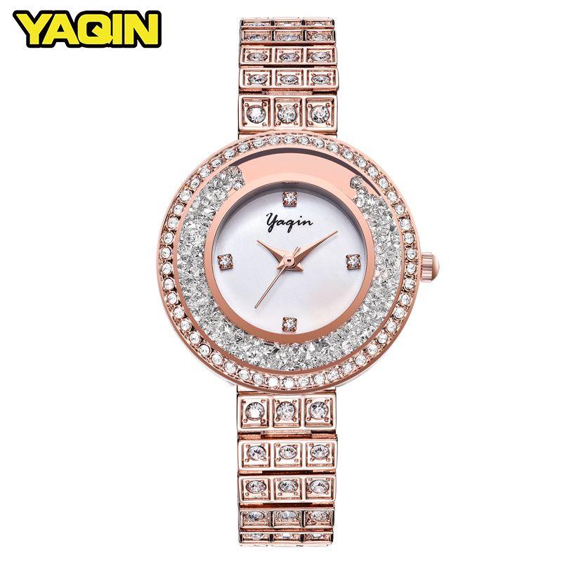 YAQIN luxury waterproof women watch fashion quartz watch Relogio Feminino Montre Femme Reloj Mujer women bracelet watch