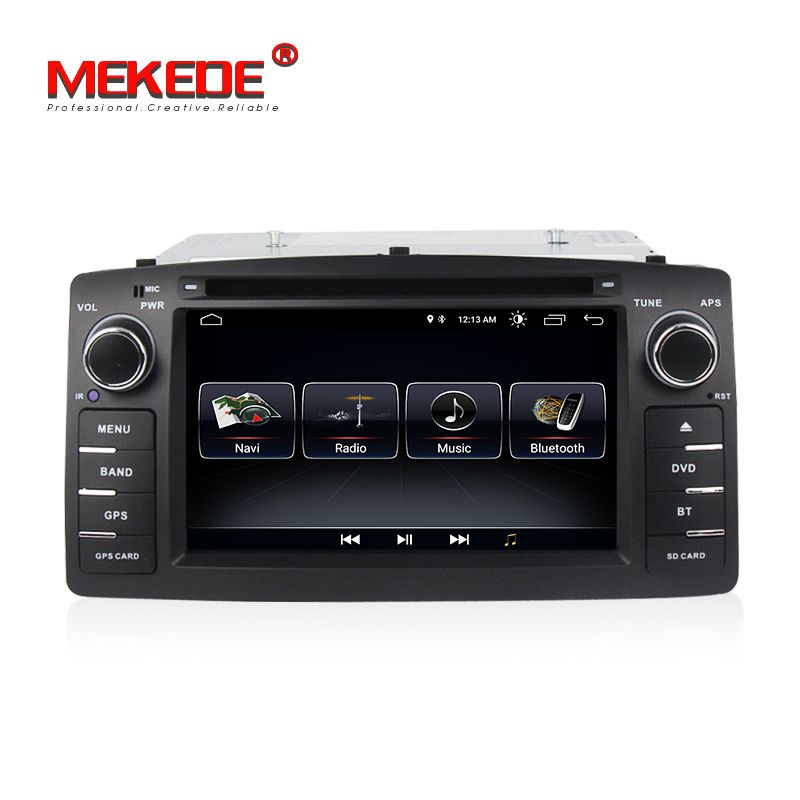 TDA7851 Android 8.0 car radio stereo DVD player for toyota corolla E12 BYD F3 with WIFI BT GPS navigation free shipping