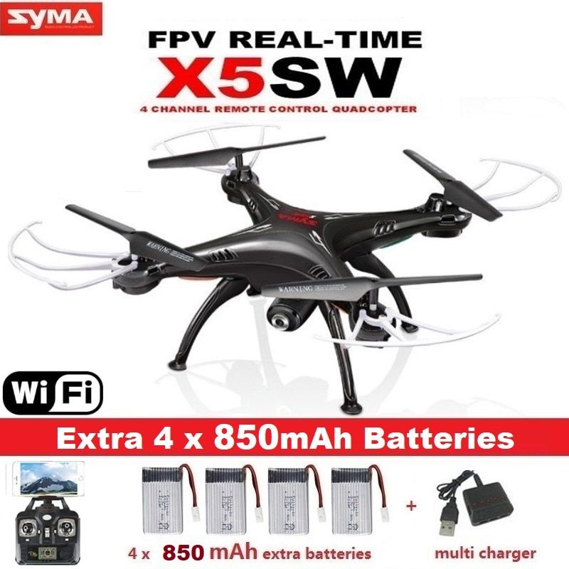 SYMA X5SW RC Drone with Camera WIFI FPV Real Time Remote Control RC Helicopter Quadcopter(X5C Upgrade) Drone VS SYMA X5C X5HW