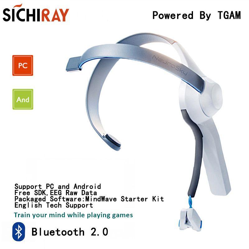 Mindwave Bluetooth 2.0 Headset Mobile Version Brainwave Sensor Mind Training Toys For Neurosky Mind Games With Thinkgear TGAM