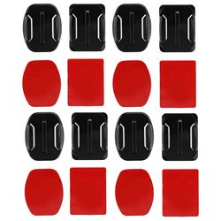 SHOOT 8pcs Flat Curved Base Mount and Adhesive Stickers for GoPro Hero 5 6 4 Yi 4K SJCAM SJ4000 Mount for Gopro Accessories Set