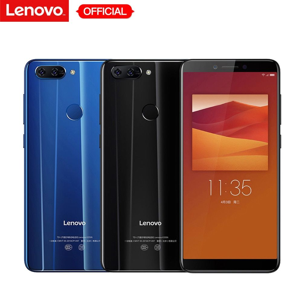 Lenovo K5 K350t Mobile Phone 3GB RAM 32GB ROM MT6750 Octa-core Smartphone 5.7'' HD+ 18:9 Display Dual Rear Camera 13MP 5MP