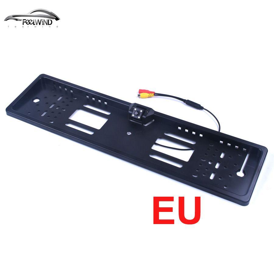 Waterproof European License Plate Frame Rear View Camera Auto Car Reverse Backup Parking <font><b>Rearview</b></font> Camera Night Vision 170 degree