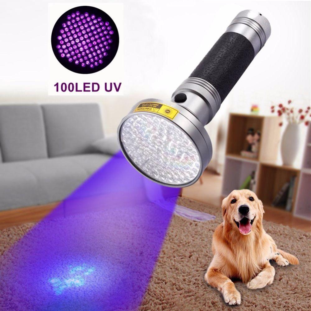 AloneFire Super 100LED Lumière UV 395-400nm LED UV lampe de Poche lampe torche 18 W lampe uv