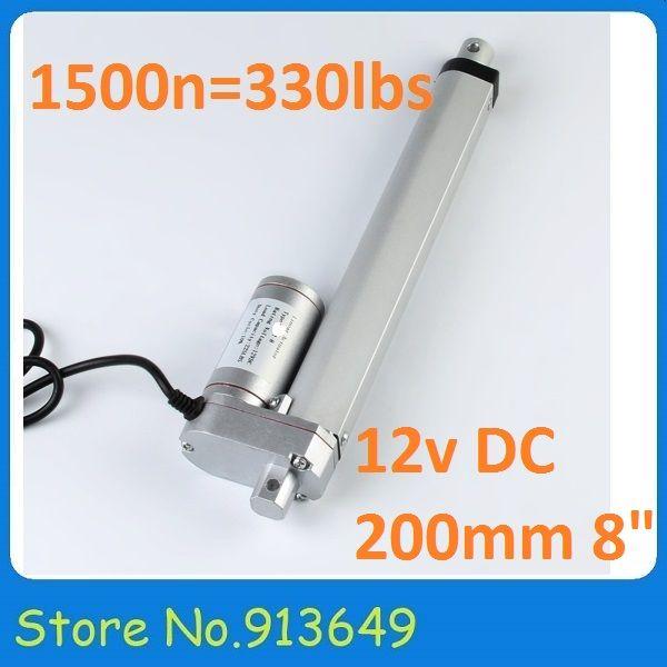 Kleine 200mm/1500N = 150 KG Elektrischen 12vdc linear rohr antrieb motor, windows stuhl motor-1PC