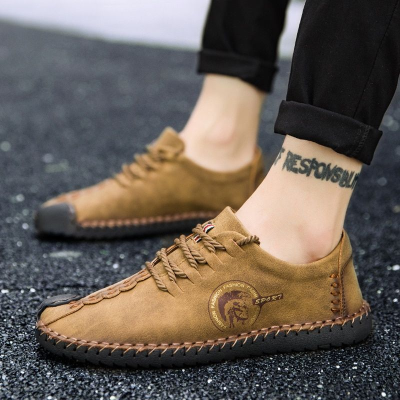 Hot Sale 2018 Men Casual Shoes Yellow Black Bottom Shoes for Adult Breathable Lace-up Male Shoes Zapatos Hombre Big Size 38-46