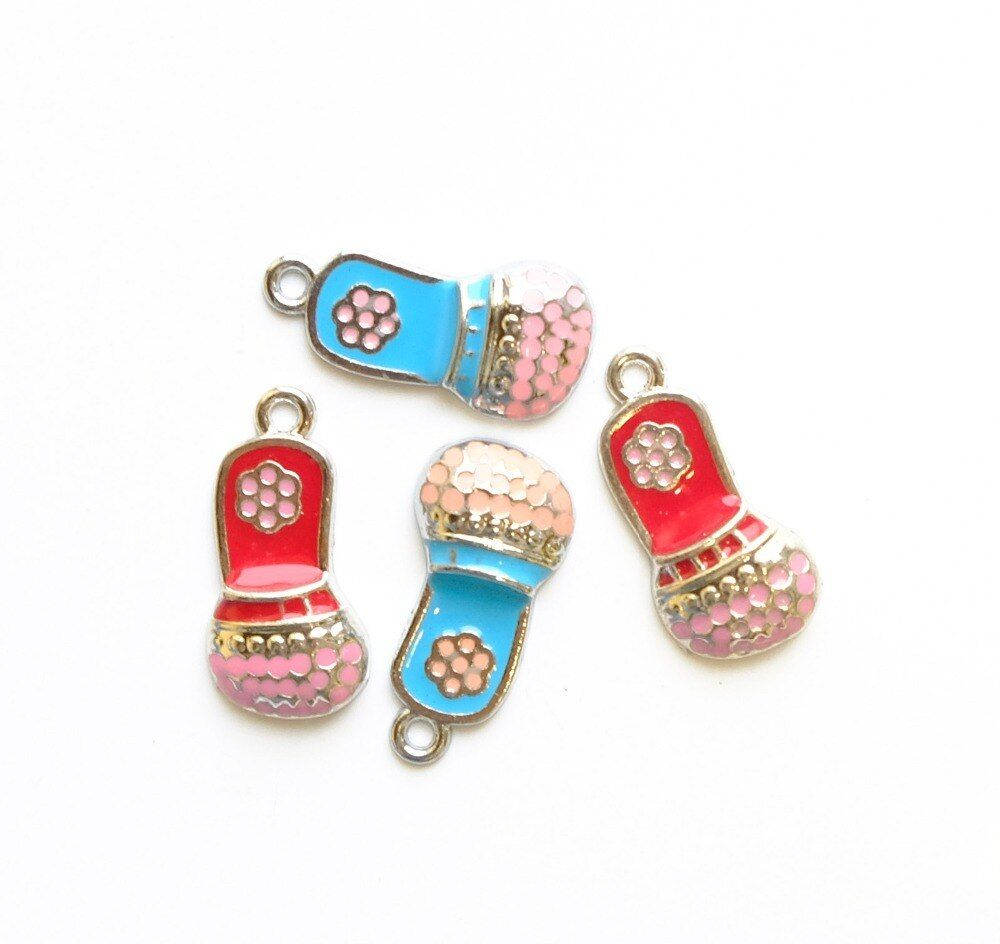 30-100PCS Mixed Color Lovely Microphone Hang Pendants DIY Necklace, key Chains Fit Phone Strips Wristband Belt Tags