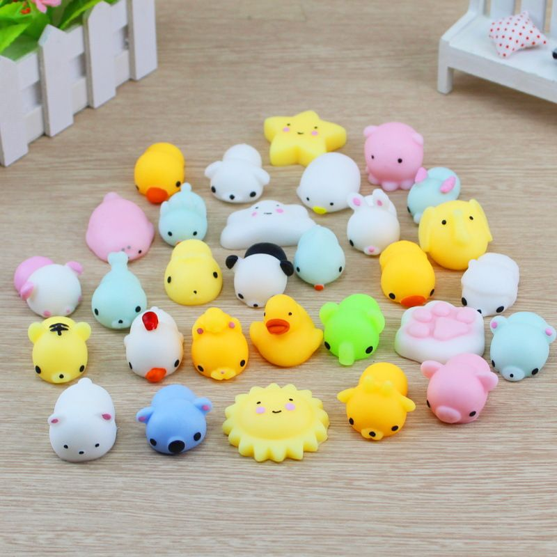 SMSNXY Squishy 30/20/10 pcs Phone Strap Toy For Mobile Phone Slow Rising Pinch Funny Animals Mini Cute Cartoon Panda Cat