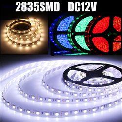 2835 SMD LED Lampe lumière de Bande DC 12 V 60 Led/M Imperméable À L'eau intérieur de La Maison de Vacances Décoratif Bande Blanc Chaud Blanc Vert Bleu rouge