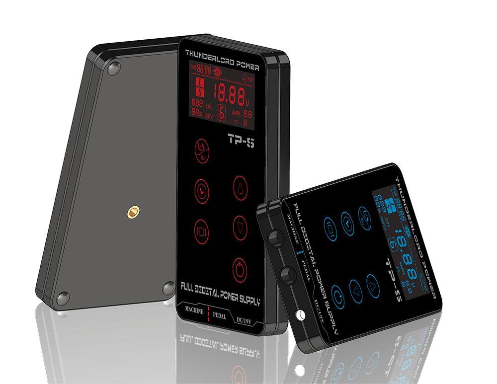 Tattoo Power Supply HP-2 HURRICAN UPGRADE Touch Screen TP-5 <font><b>Intelligent</b></font> Digital LCD Makeup Dual Tattoo Power Supplies set