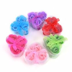 3Pcs Scented Rose Flower Petal Bath Body Soap Wedding Party gift for your good friend