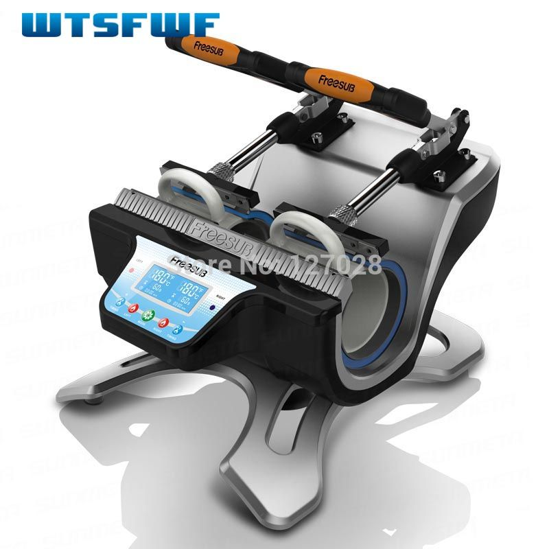 Wtsfwf ST-210 Double-station Thermal Mug Transfer Printer Machine Mug Heat Press Printer Digital Mug Printer