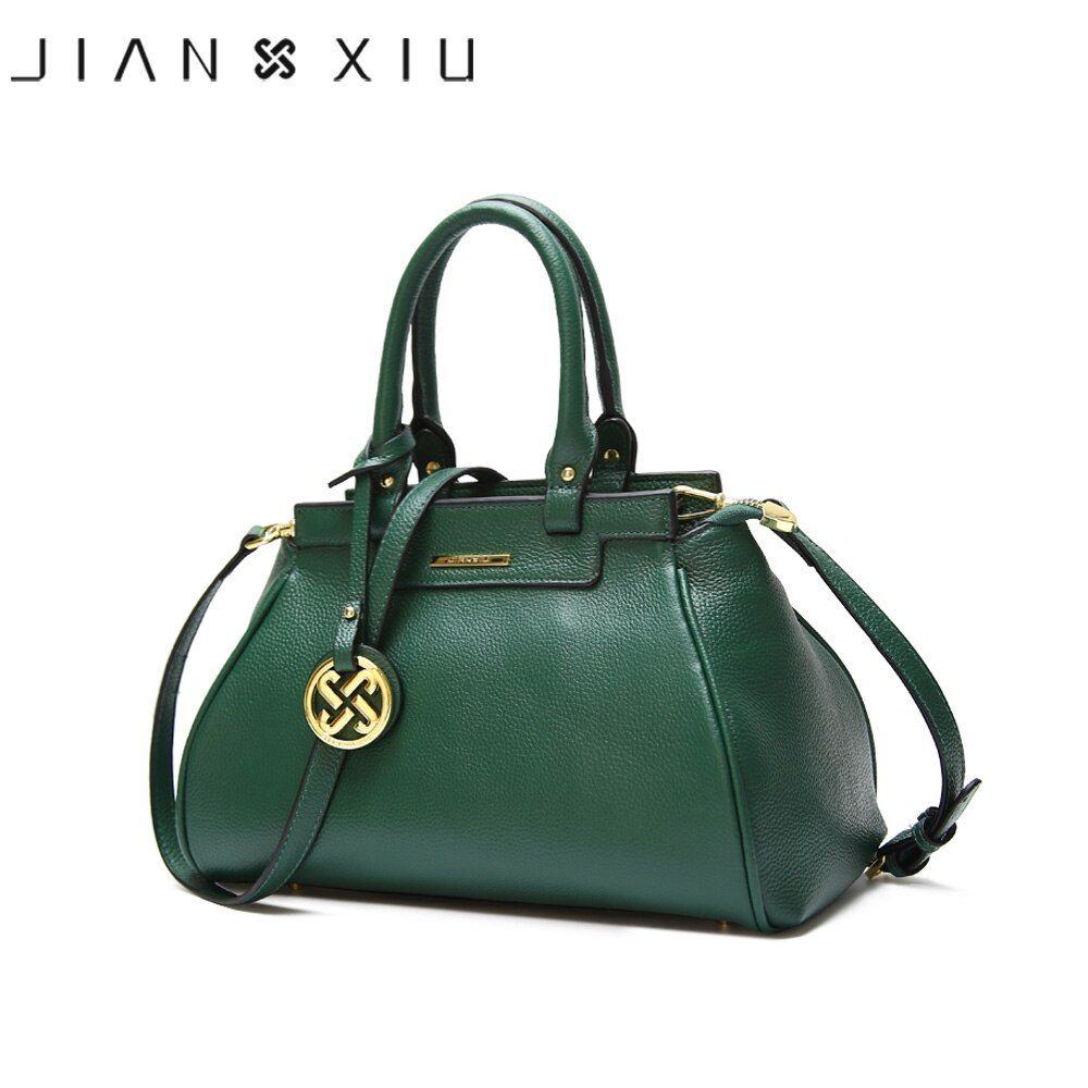 JIANXIU Brand Genuine Leather Handbags Litchi Texture Women Messenger Bags Famous Brands Handbag Fashion Shoulder Bag Tote 2017