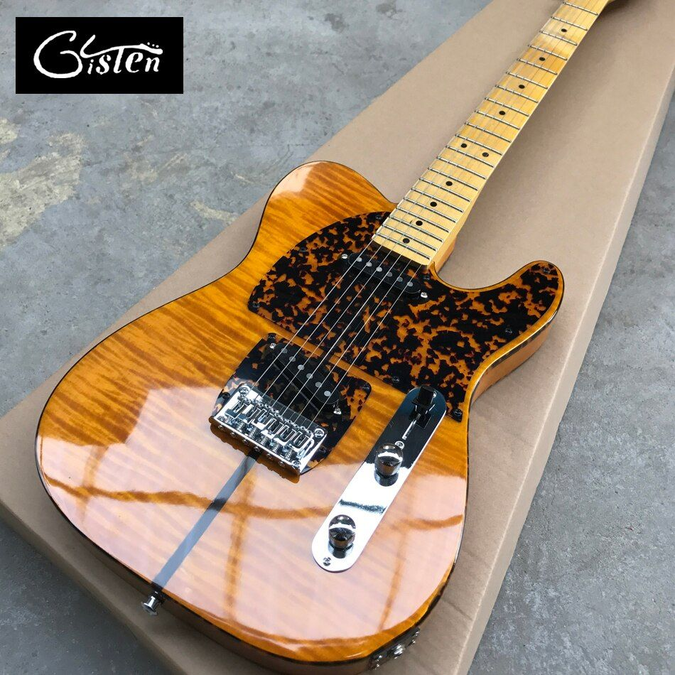 New style high quality customized tele electric guitar, Maple Fingerboard, Flame Maple Top guitar, free shipping