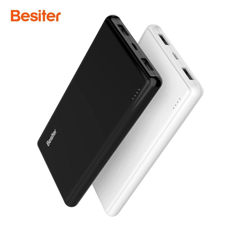 Besiter 10000 mah puissance banque Externe Batterie PoverBank Mince Conception portable de charge Power Bank chargeur pour téléphone xiomi téléphones
