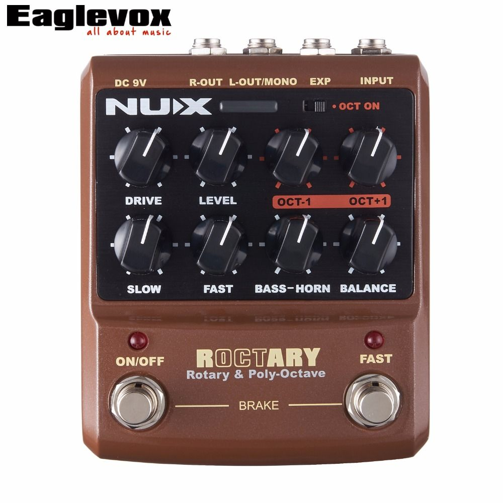 NUX Roctary Force Rotary  Octave Guitar Effect Pedal Stomp Boxes TSAC Technology True Bypass