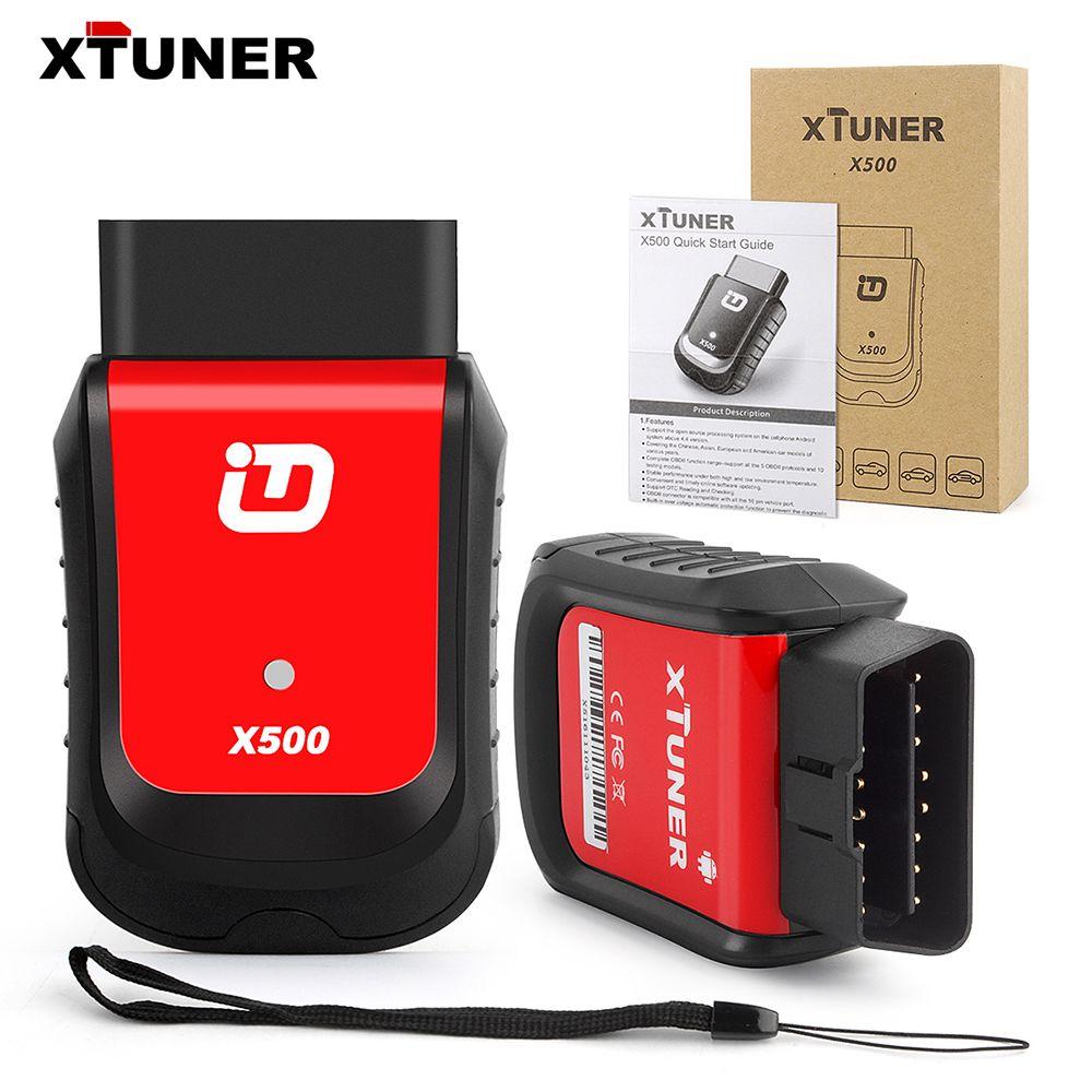 XTUNER X500 OBD2 Bluetooth Android Auto Diagnose Werkzeug für Motor ABS Batterie DPF EPB Öl TPMS IMMO Injektor Reset-Taste werkzeuge