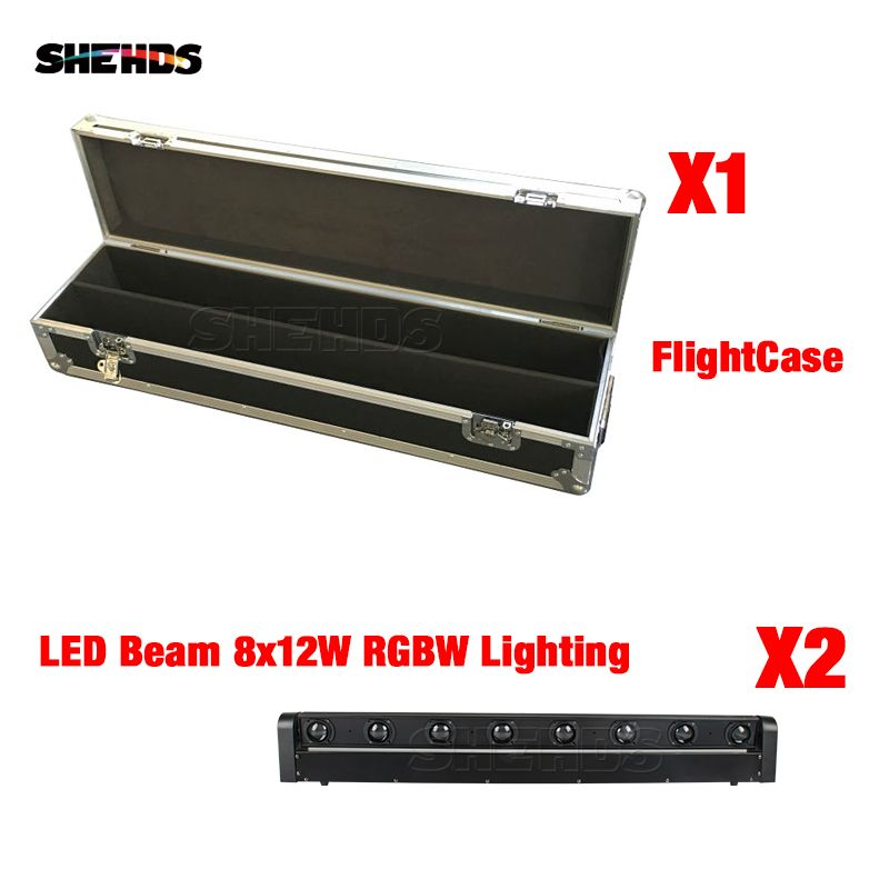 2pcs New Arrival A Flight Case For LED Bar Beam Moving Head With 8x12W RGBW LED Stage Lighting Party Business Lamp