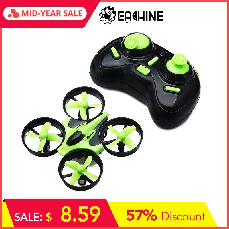 Eachine E010 Mini 2.4G 4CH 6 axes 3D fonction de mémoire de Mode sans tête RC quadrirotor RTF RC petit cadeau présent jouets pour enfants