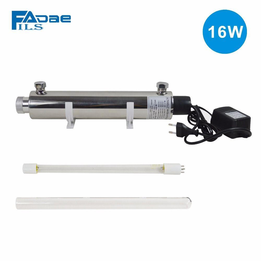 16 Watt Uv-Licht Wasserfilter Ganze Haus UV Sterilisator 2 GPM anti-bakterien, Power 200-240 V & Europa Zwei-pin stecker