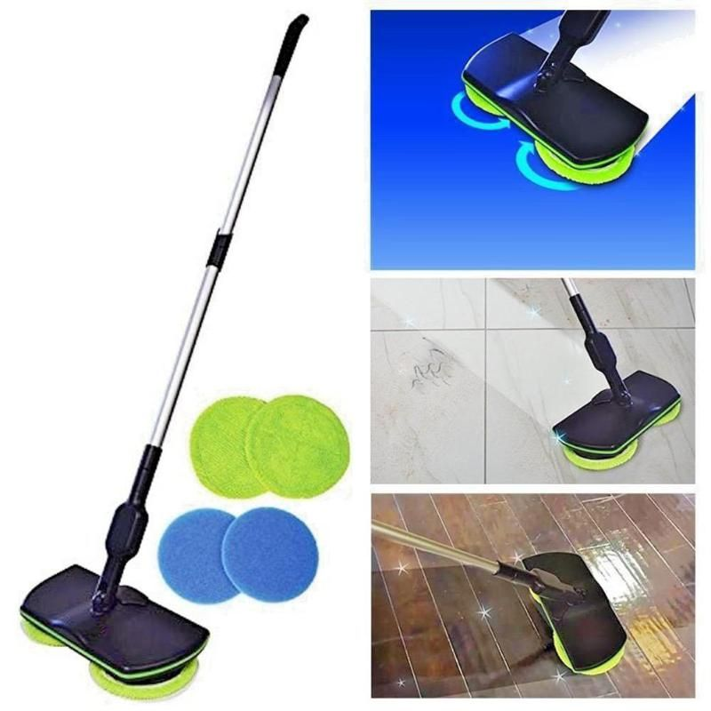 Household Sweeping Machine Rechargeable Electric Mop Hand Push Sweeper Mop Floor Cleaning Tools