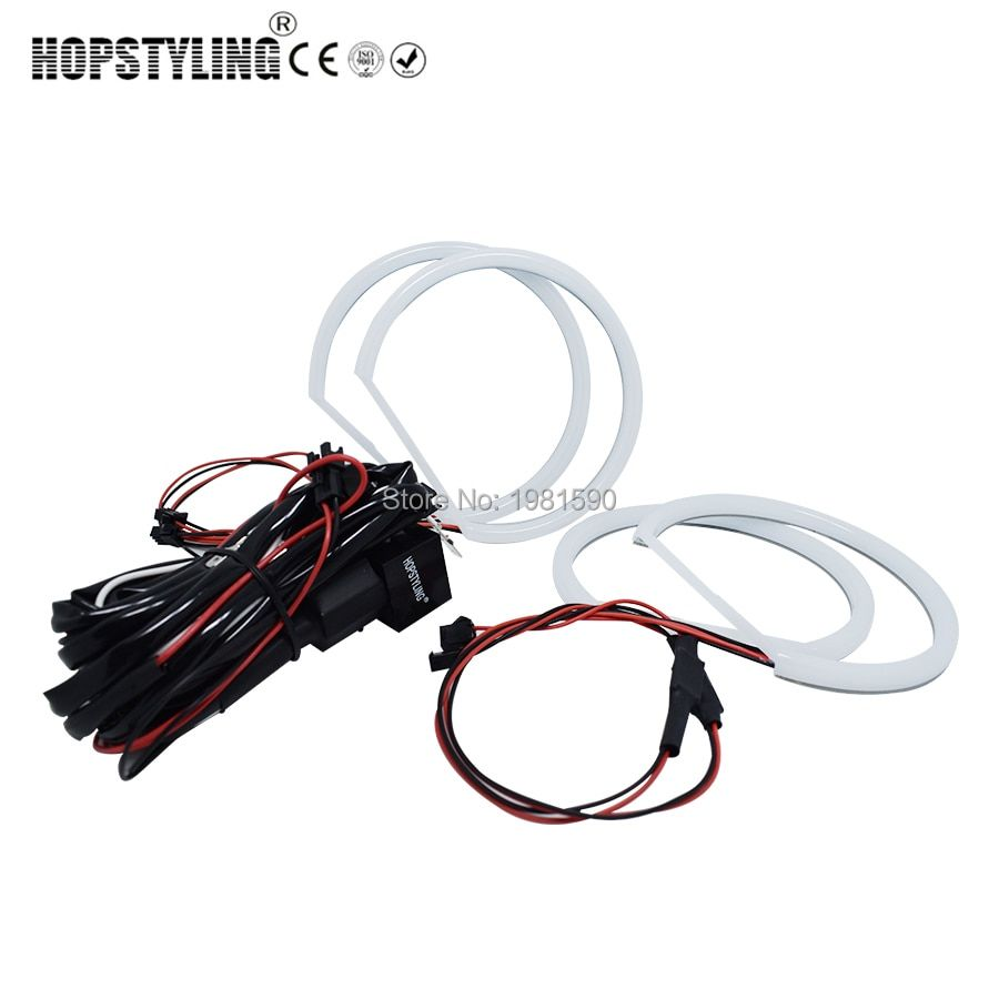 Hopstyling Xenon white E36 E38 E39 E46 projector Cotton light angel eyes No Error for BMW Halo SMD headlight Car-styling