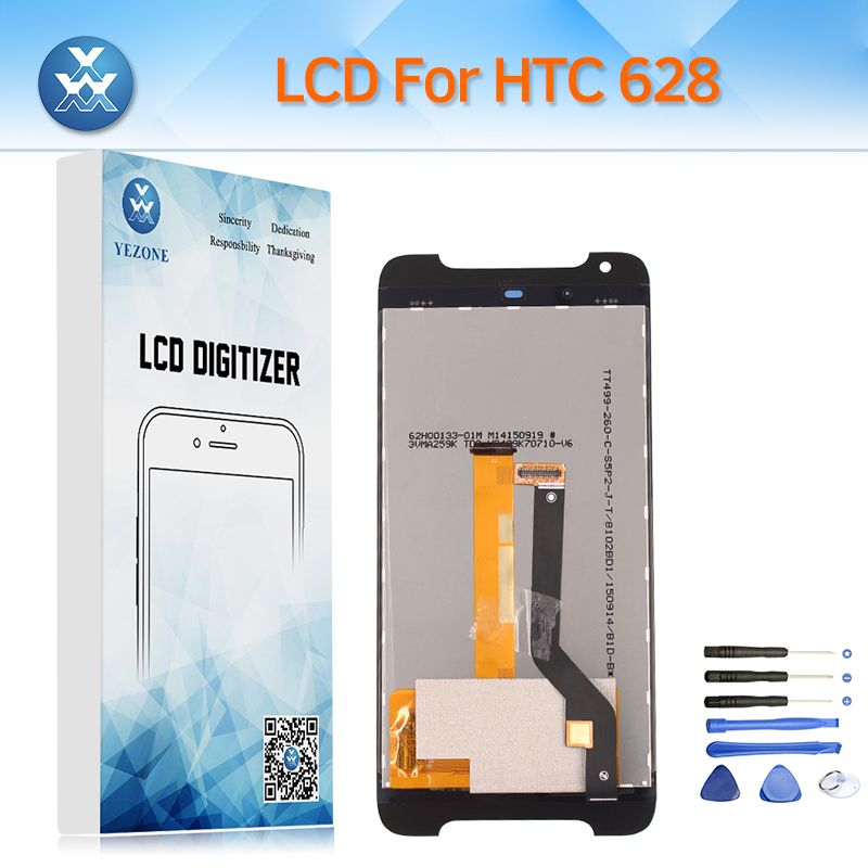 AAA+ LCD Replacement for HTC Desire 628 D628 LCD Display Touch Screen Digitizer Glass Assembly Pantalla Black White+Repair Tools