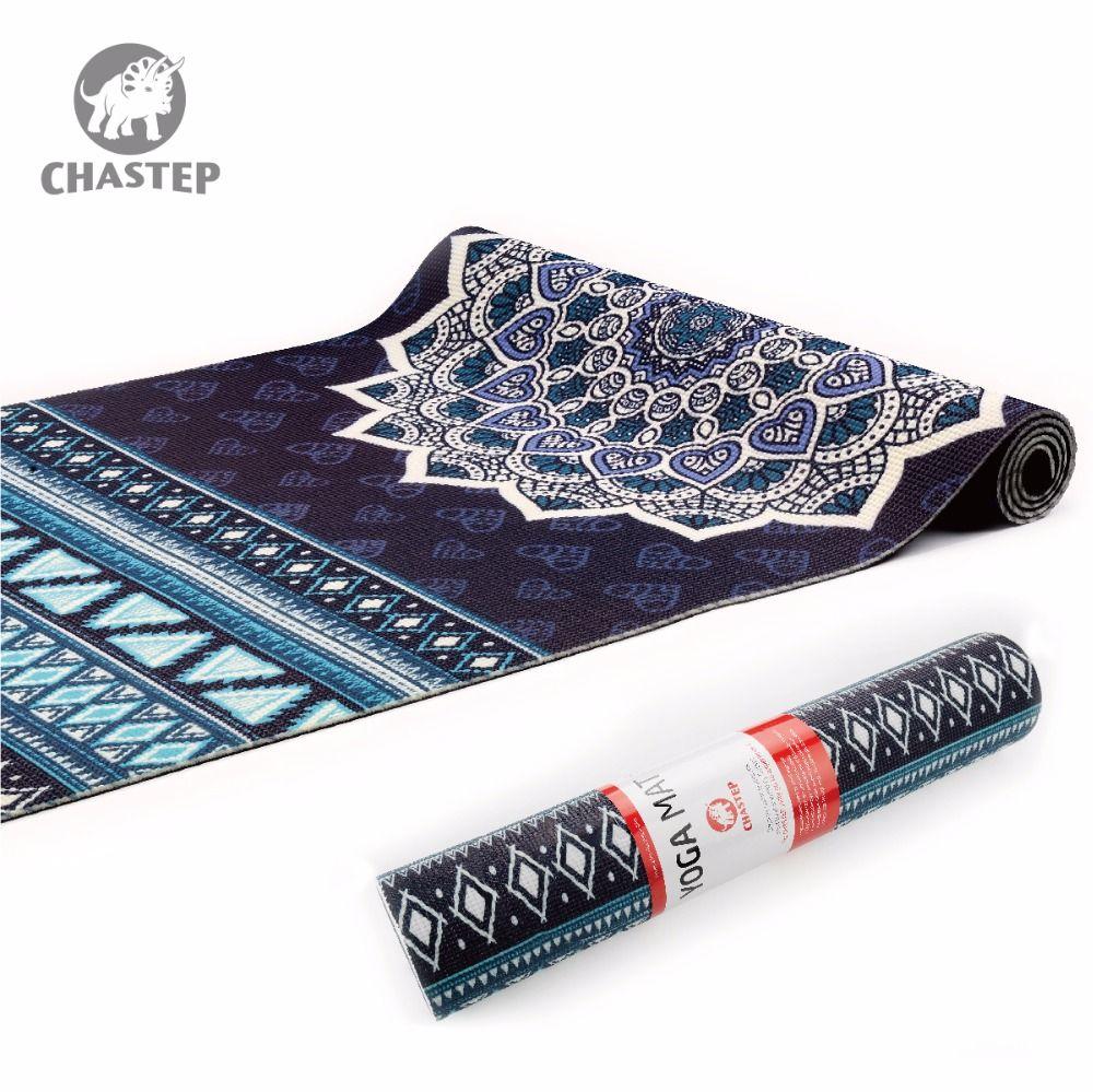 Yoga-Matte Natürliche 6mm Yoga Pads Fitness Matte PVC Material für Übung Gymnastikmatten Chastep Einzigartiges Design Fitness mit Yoga tasche