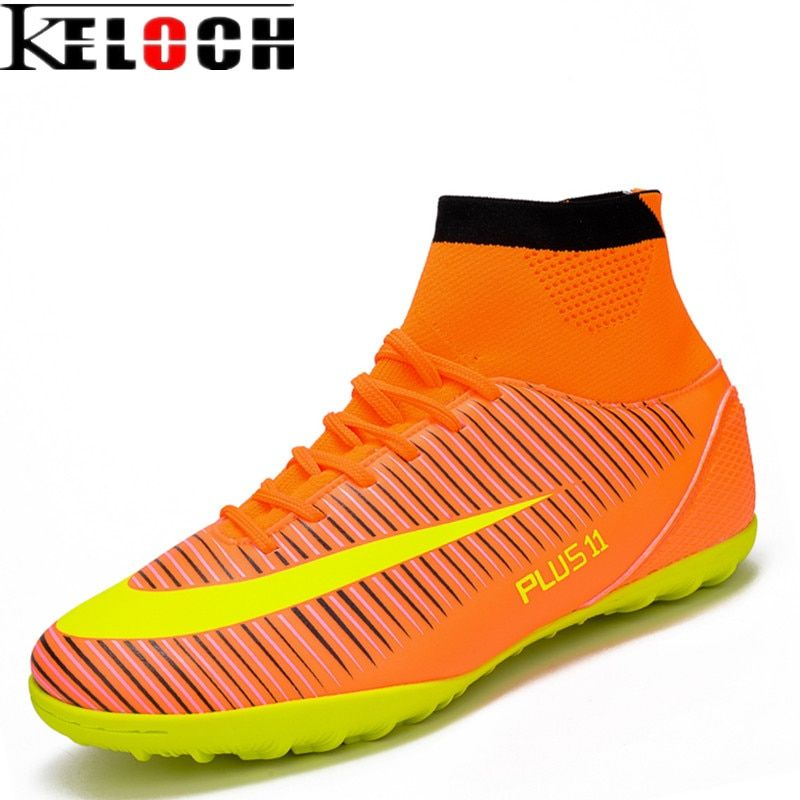 Keloch 2017 Size 33-46 Men Boy Kids High Ankle Football Boots Outdoor Waterproof Turf Soccer Shoes Breathable Non-Slip Sneakers
