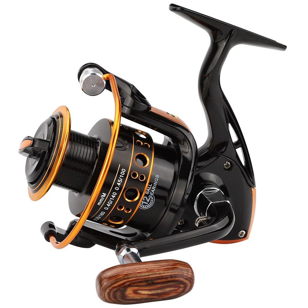 JACKFISH 12BB Spinning Fishing Reel Fishing Wheel for Saltwater Metal Spool Fishing Reels carpa molinete de pesca fishing tackle