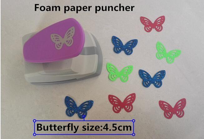 2015 nouveau Super Grande Taille Coup de Poing Craft Scrapbooking papillon Perforateur vous pouvez utiliser 2mm mousse papier perforateur BRICOLAGE enfants jouets