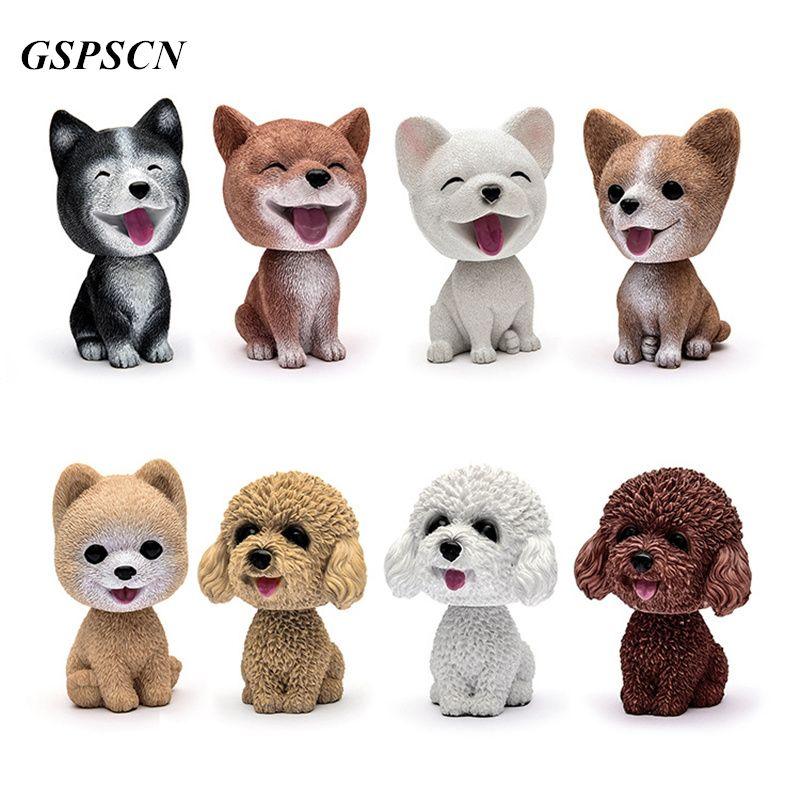 GSPSCN Car Decoration Furnishing Articles Car/Household Car Mini Cute Nodding Dog Shakes Head Shaking Dog Car Styling