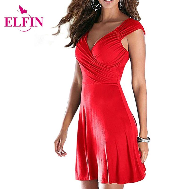 Fashion Women <font><b>Dress</b></font> Cap Sleeve Backless V Neck Sexy <font><b>Dress</b></font> Slim Party <font><b>Dress</b></font> Pleated Empire Waist A Line Party <font><b>Dress</b></font> Solid LJ4865R