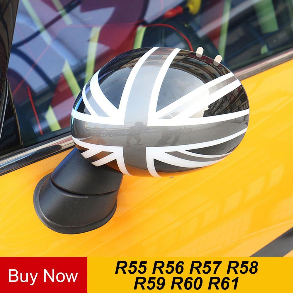 2 stücke Tür Rückspiegel Abdeckungen Aufkleber Auto-styling Für Mini Cooper S Clubman Countryman Paceman R55 R56 r57 R58 R59 R60 R61