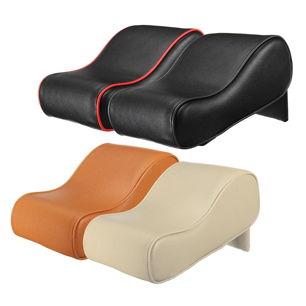 PU Leather Car SUV Center Box Armrest Cushion Console Soft Pad Cushion Cover Mat Memory Foam Rest Pillow Armrest Supports