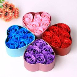 Surprise Rose Flower 6Pcs Bath Body Petal  Scented Soap gift Wedding Decoration Creative Valentine's Day gift n#dropship
