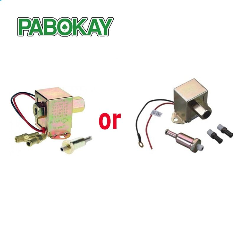 Diesel petrol 12V for facet red top square electric fuel pump 40104 40106 40107 P502 low pressure external 3797522 4299544