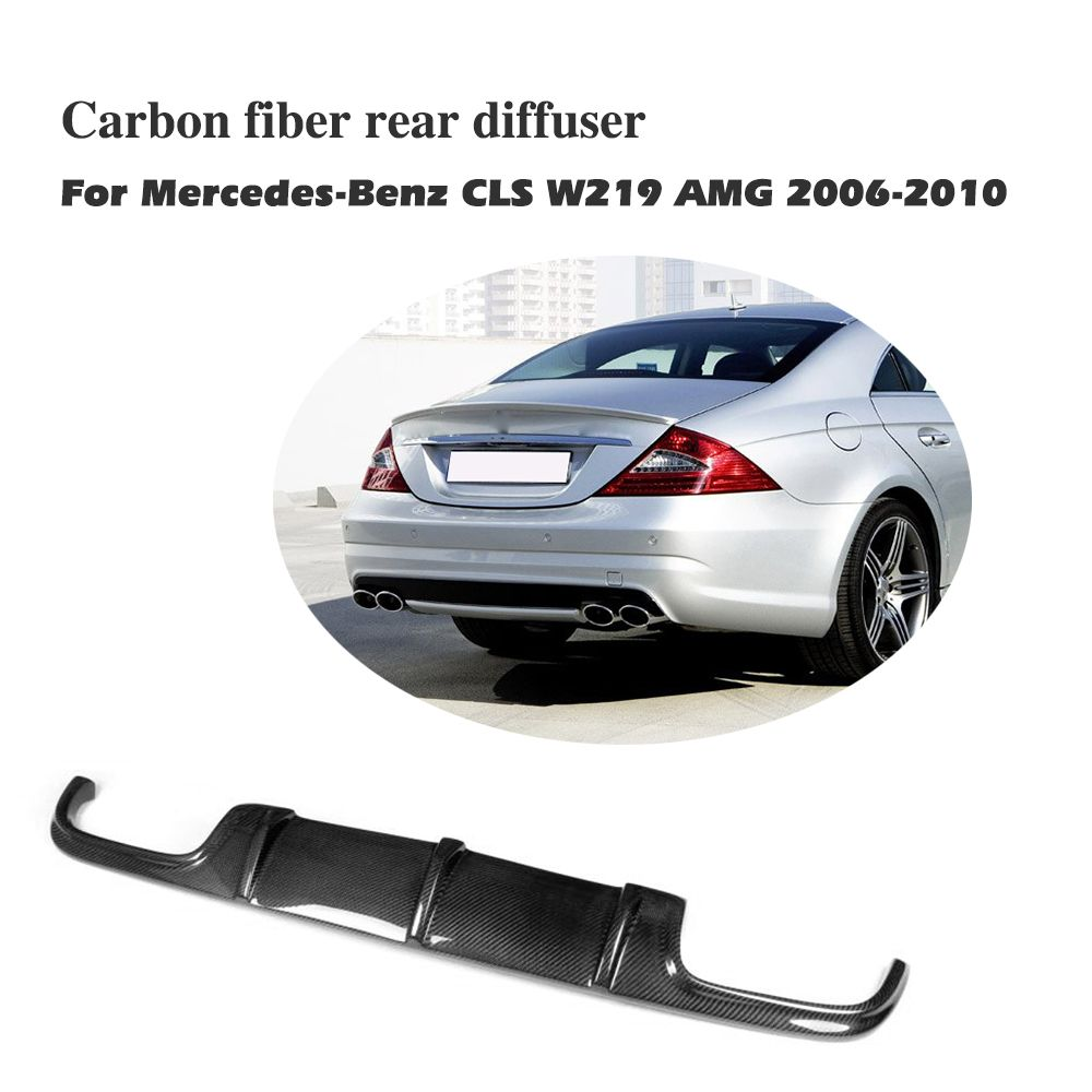 Carbon Fiber Rear bumper lip Diffuser For Benz CLS Class W219 AMG Bumper 2006-2010 Car styling accessories