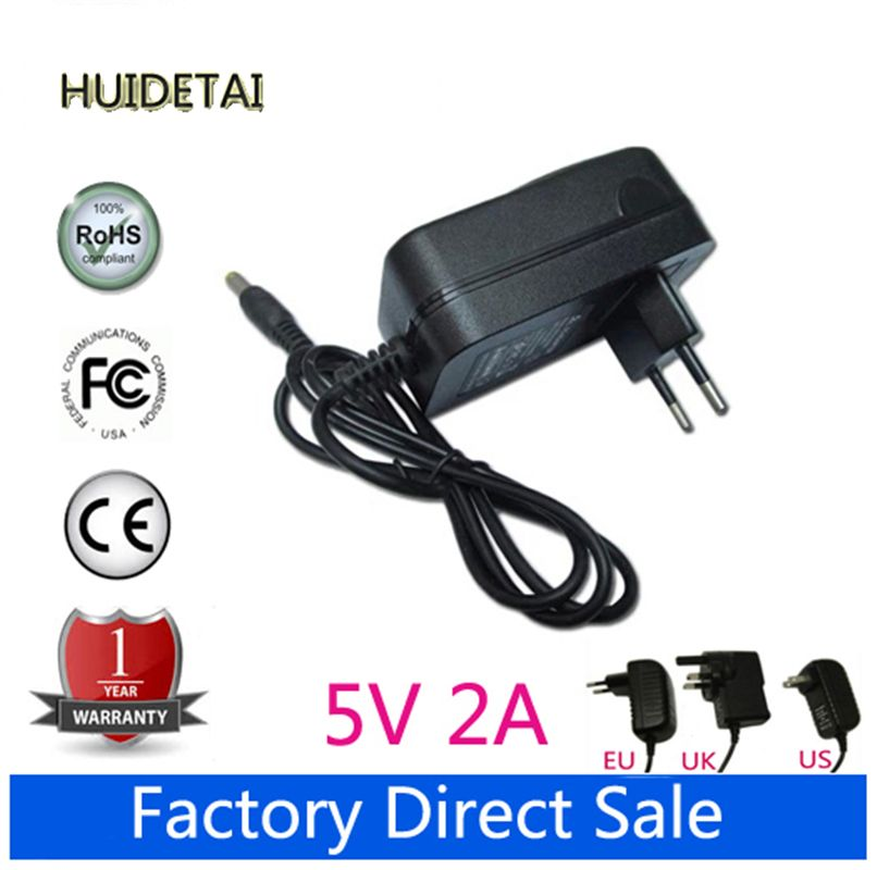 5V 2A 2000mA Wall Charger Power Supply Adapter for Huawei Mediapad 7 Ideos S7, S7 Slim, S7-301U,S7-301W, S7-301C Tablet