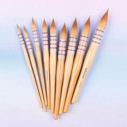 45RSQ haute qualité kolinsky cheveux manche en bois pinceaux artistique aquarelle art peinture pinceau pour dessin