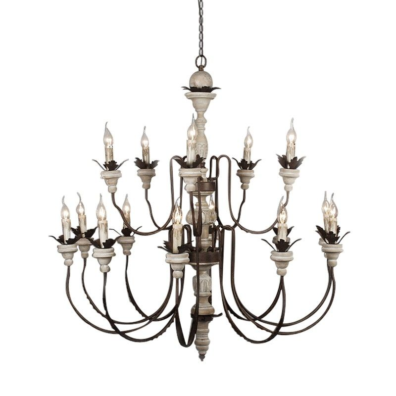 Replica item America style PARISIAN WOOD & ZINC CHANDELIER 47